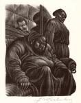 The Brothers Karamazov.  (Sinister man and falcon).