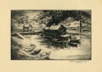 Harbor Scene. [Untitled].