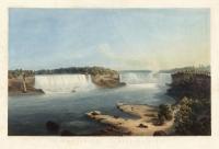 Les Chutes du Niagara, Vue Generale;  Niagara Falls, General View.