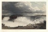 Les Chutes Du Niagara : La fer a Cheval.  Niagara Falls. : The Horse Shoe.