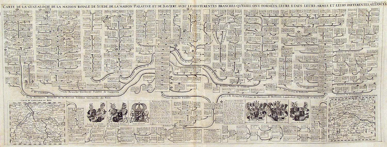 La Maison De La Suede carte de la genealogie de la maison roiale de suede de la
