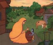 Yashoda and Krishna.