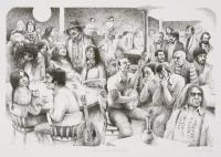 In a Woodstock Cafe.