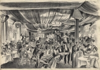 Speakeasy.  [Tex Guinan's Portable Night Club, 1928.  Hotel Harding, West 54th Street.]