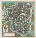 Hypra Flandriarum Civitas Munitissima. (Leper aka Ypres, Belgium.)