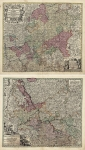 Mappa Circuli Rhenani Superioris (and) Synopsis Circuli Rhenani Inferioris sive Electorum Rheni