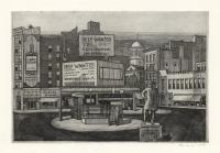 Sheridan Square, 1950:  Manhattan.